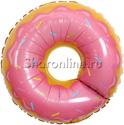 """Фото №1: Шар Фигура """"Пончик надкусанный""""  66 см"""