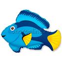 "Фото №1: Шар Фигура ""Рыбка голубая"" 86 см"