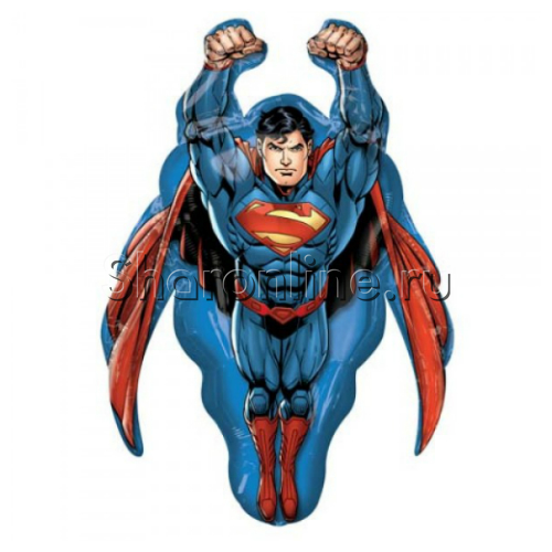 "Фото №1: Шар Фигура ""Супермен"" летящий 86 см"
