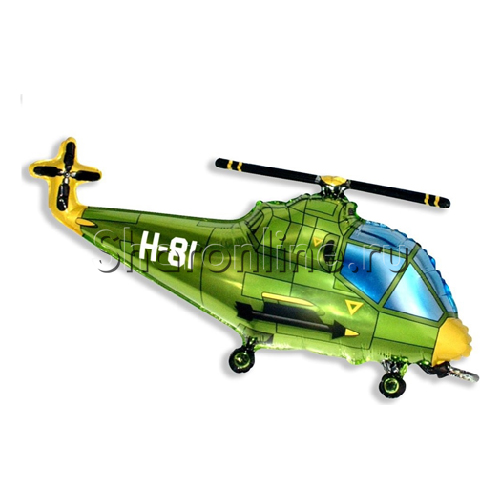 Фото №1: Шар Фигура Вертолет 99 см