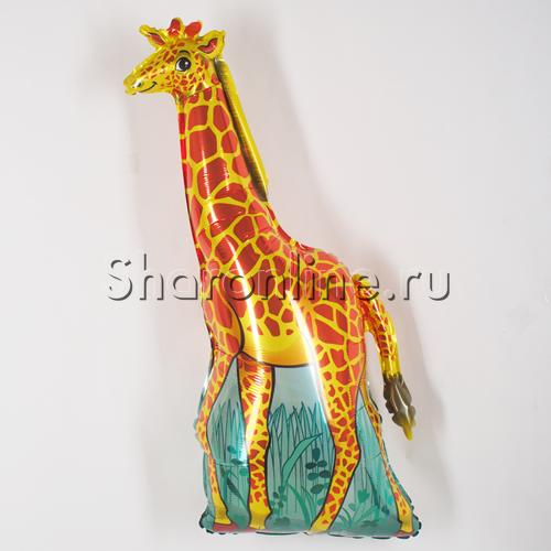 Фото №1: Шар фигура Жираф оранжевый, 120 см