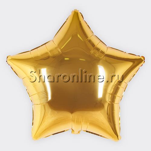 Фото №1: Шар Фольгированный Звезда золотая 81 см