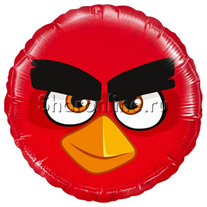 "Шар Круг ""Angry Birds"" красный 46 см"
