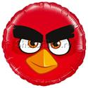 "Фото №1: Шар Круг ""Angry Birds"" красный 46 см"