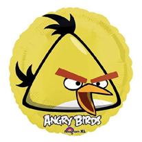 """Шар Круг """"Angry Birds"""" желтый 46 см"""