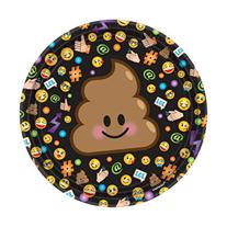 Шар круг Эмоции Шоколадное мороженое 46 см