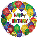 "Фото №1: Шар Круг ""Happy Birthday"" ""Круги"" 46 см"