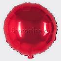 """Фото №1: Шар """"Круг"""" красный 46 см"""