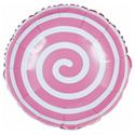 """Фото №1: Шар Круг """"Леденец"""" розовый 46 см"""
