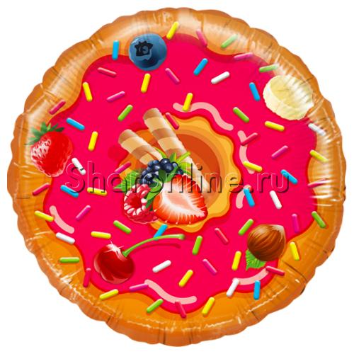 "Фото №1: Шар Круг ""Пончик"" 46 см"