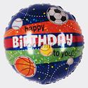 """Фото №1: Шар Круг """"С днем рождения"""" Спортивные мячи 46 см"""