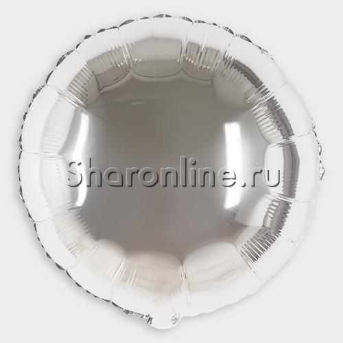 """Фото №1: Шар """"Круг"""" Серебро 46 см"""