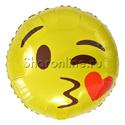 Фото №1: Шар Круг Смайл Эмоции С поцелуем 46 см