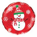 """Фото №1: Шар Круг """"Снеговик"""" красный 46 см"""