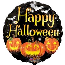 """Шар Круг  """"Тыква Happy Halloween"""" 46 см"""