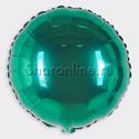 """Фото №1: Шар """"Круг"""" зеленый 46 см"""
