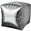 Фото №1: Шар Куб серебро 38 см
