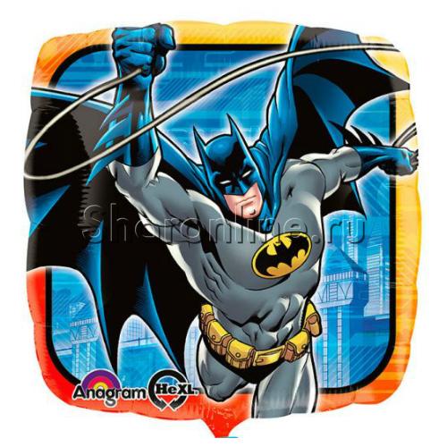 """Фото №1: Шар квадрат """"Бэтмен"""" 46 см"""