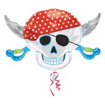 """Шар """"Пиратский череп"""" 76 см"""