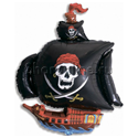 """Фото №1: Шар """"Пиратский корабль"""" черный 81 см"""