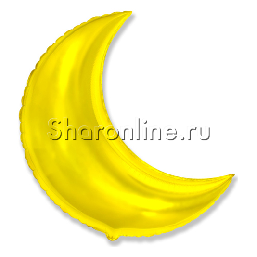 "Фото №1: Шар ""Полумесяц"" золото 89 см"