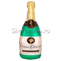 """Шар """"Поздравляю"""" бутылка шампанского 94 см"""