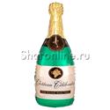 """Фото №1: Шар """"Поздравляю"""" бутылка шампанского 94 см"""