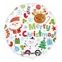 """Фото №1: Шар """"Рождественские рисунки"""" 46 см"""