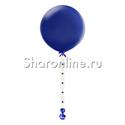 Фото №1: Шар с гирляндой из фетра Синий 80 см