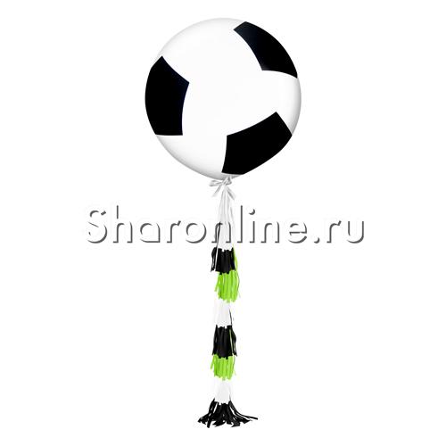 Фото №1: Шар с гирляндой тассел Футбольный мяч 80 см