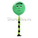 """Фото №1: Шар с гирляндой тассел """"Монстрик"""" зеленый 80 см"""