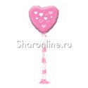 "Фото №1: Шар с гирляндой тассел ""Розовое сердце"""