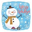"""Фото №1: Шар """"Счастливый Снеговик"""" 46 см"""