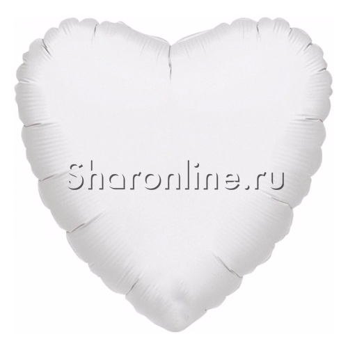 Фото №1: Шар сердце белое 46 см