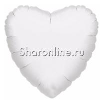 "Шар ""Сердце"" белое 46 см"