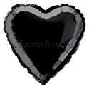 Фото №1: Шар Сердце черное 46 см