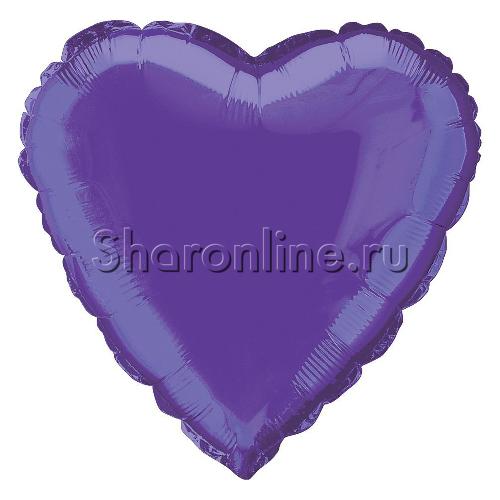 "Фото №1: Шар ""Сердце"" фиолетовое 46 см"