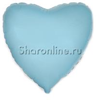 Шар Сердце Голубое 46 см