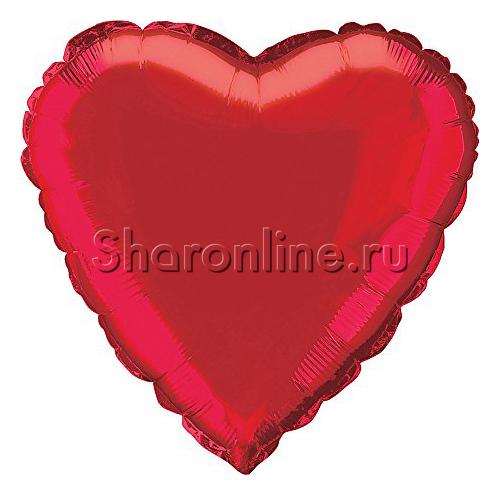 Фото №1: Шар Сердце красное 46 см