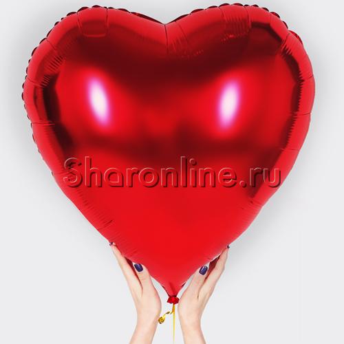 Фото №1: Шар Сердце красное 81 см