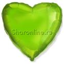 Фото №1: Шар Сердце салатовое 46 см