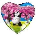 """Фото №1: Шар Сердце """"Панда"""" 46 см"""