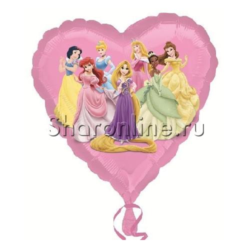 """Фото №1: Шар Сердце """"Принцессы"""" 46 см"""