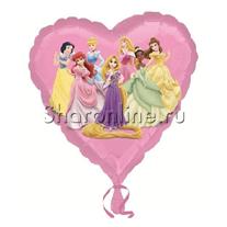 "Шар Сердце ""Принцессы"" 46 см"