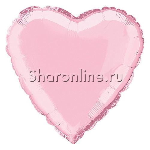 """Фото №1: Шар """"Сердце"""" розовое 46 см"""