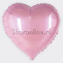 Фото №1: Фольгированный шар Сердце розовое 81 см