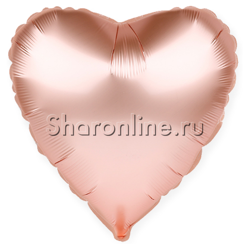 Фото №1: Шар Сердце Розовое золото 46 см