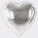 Фото №1: Шар Сердце серебряное 81 см