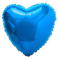 """Шар """"Сердце"""" синее 46 см"""