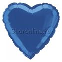 "Фото №1: Шар ""Сердце"" синее 46 см"